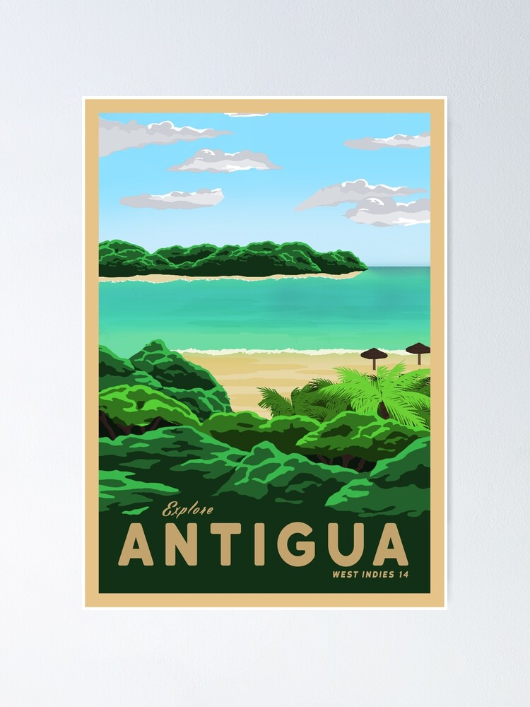 Alternate view of Travel to Antigua Poster