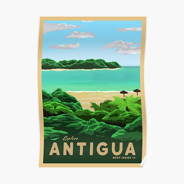 Travel to Antigua Poster