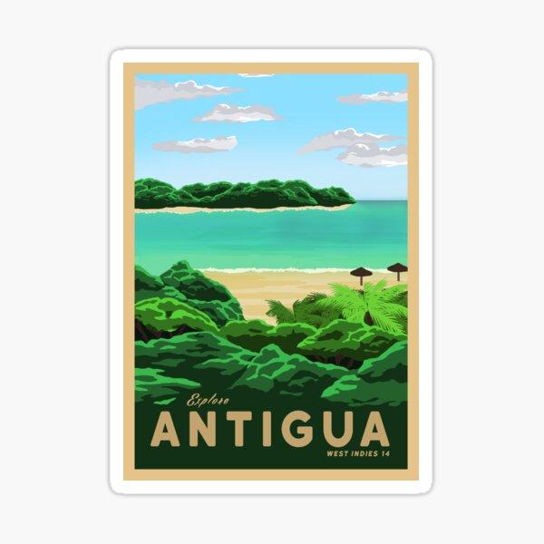 Travel to Antigua Sticker