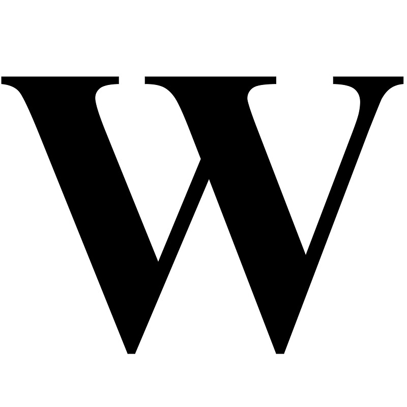 Image result for The letter W