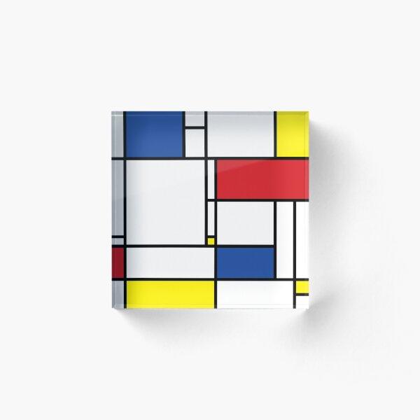 Mondrian Minimalist De Stijl Modern Art © fatfatin Acrylic Block