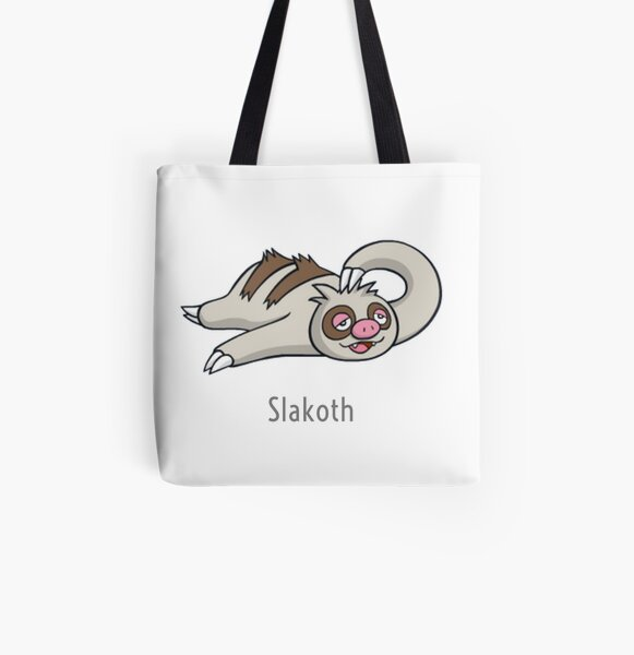Lazy Slakoth All Over Print Tote Bag
