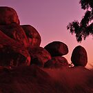 Devils Marbles Sunrise by Karina Walther