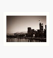 Frankfurt / Main - Skyline Art Print