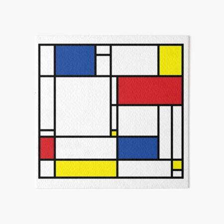 Mondrian Minimalist De Stijl Modern Art © fatfatin Art Board Print