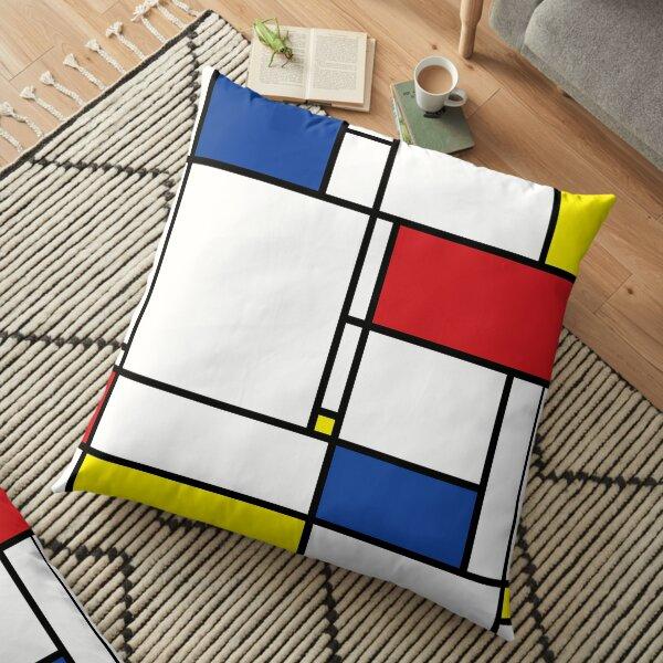 Mondrian Minimalist De Stijl Modern Art © fatfatin Coussin de sol