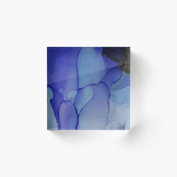 Whispy Bay Abstract Design by Paulele Acrylic Block