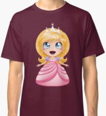 Blond Princess In Pink Dress Classic T-Shirt