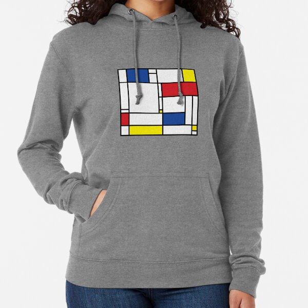 Mondrian Minimalist De Stijl Modern Art © fatfatin Lightweight Hoodie