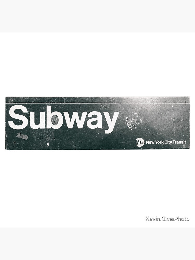 New York City Subway Sign by KevinKlimaPhoto