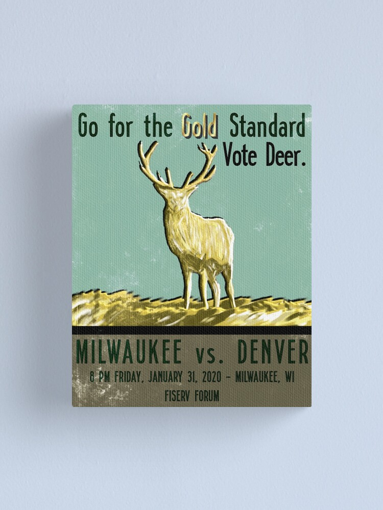 Alternate view of Go for the Gold Standard Canvas Print