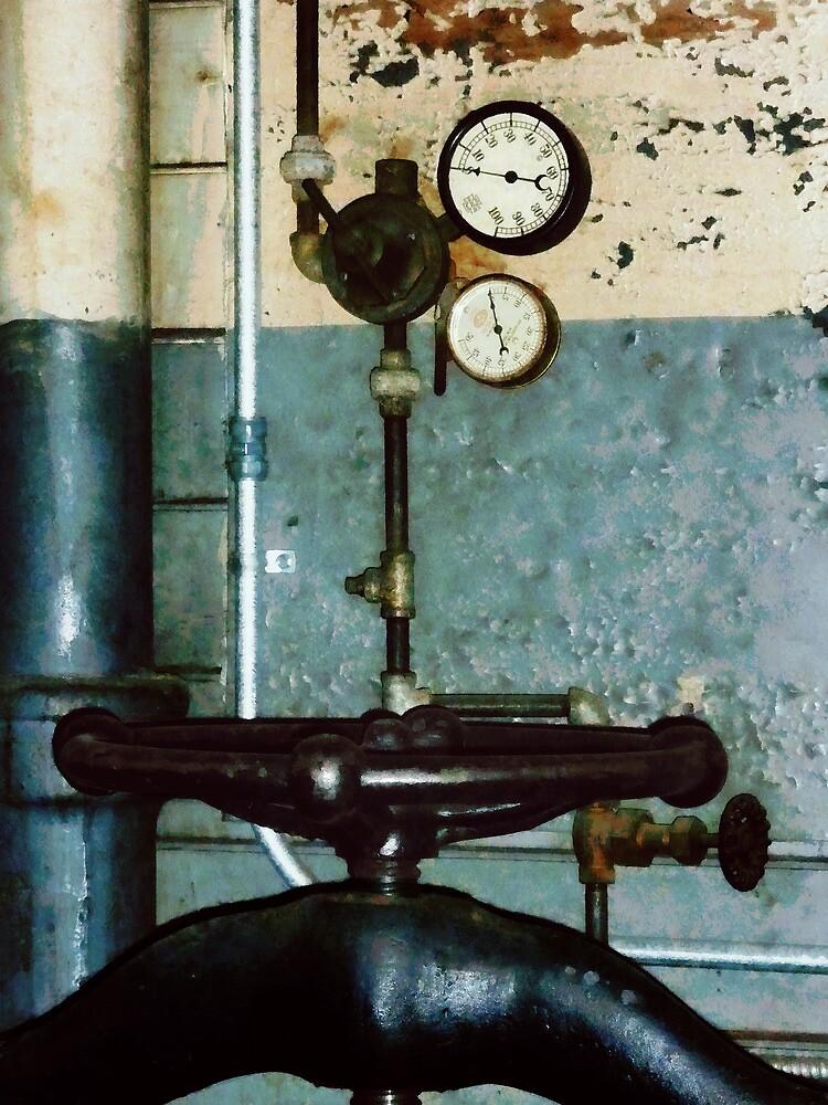 Gauges in Machine Shop by Susan Savad