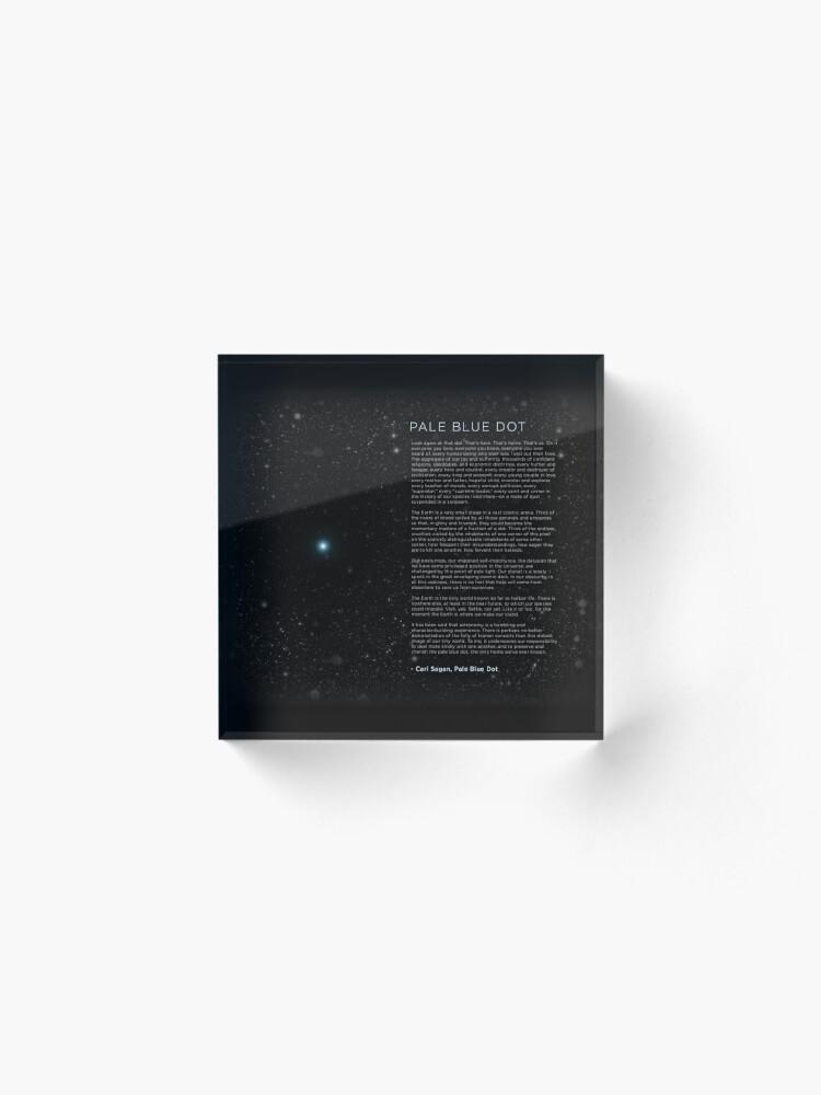 Alternate view of Carl Sagan's - Pale Blue Dot Speech Acrylic Block