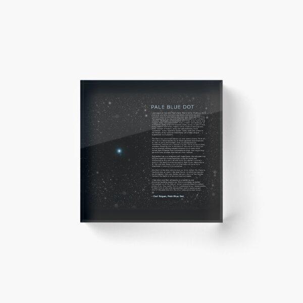 Carl Sagan's - Pale Blue Dot Speech Acrylic Block