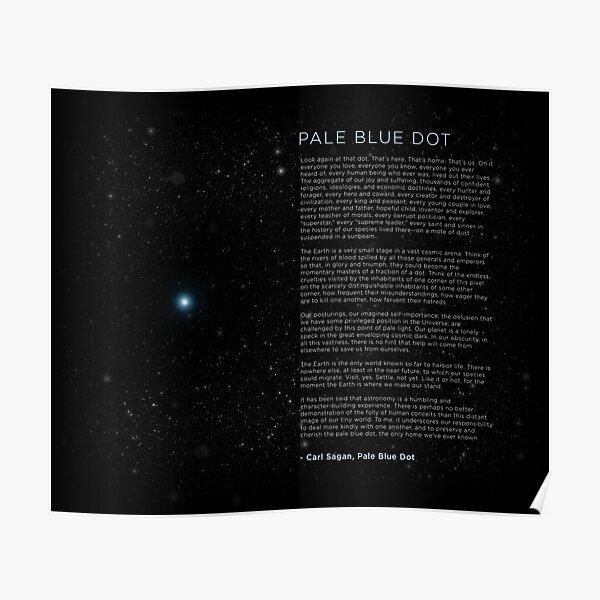 Carl Sagan's - Pale Blue Dot Speech Poster