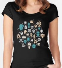 Robots Women's Fitted Scoop T-Shirt