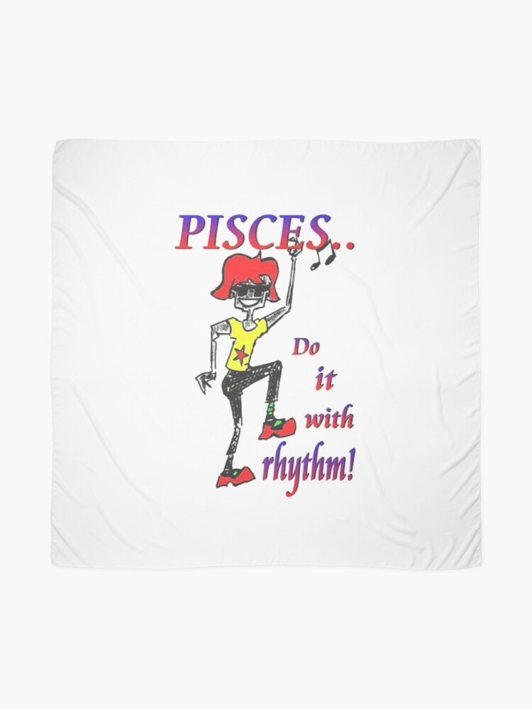 Alternate view of Pisces - do it with rhythm Scarf