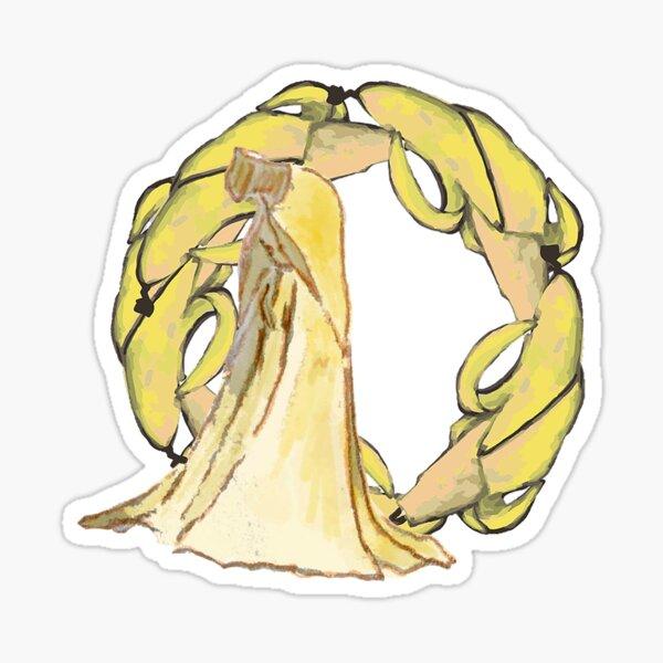GREEN Organic World - Banana Princess Sticker