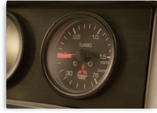 Mitsi Evo boost gauge. by MattReeves
