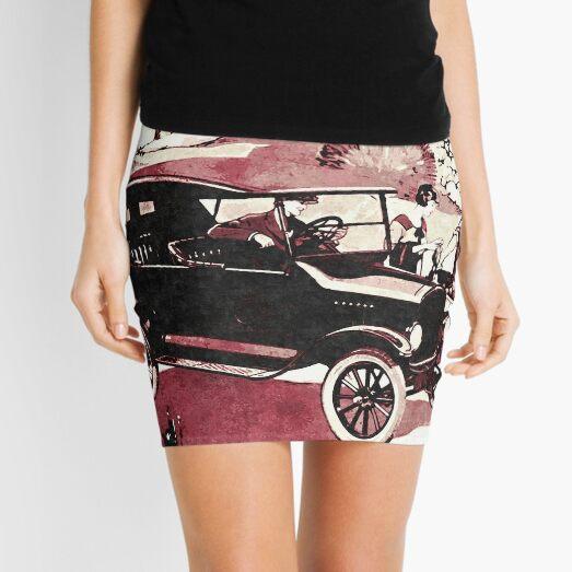 Model T Touring Ad Art Mini Skirt