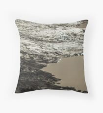 Icelandic Glacier Throw Pillow