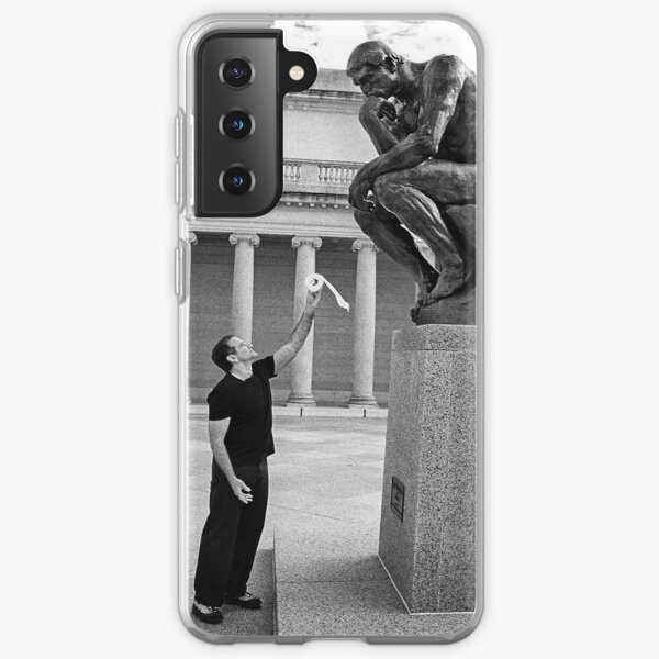 Robin Williams Giving 'The Thinker' Toilet Paper Samsung Galaxy Soft Case