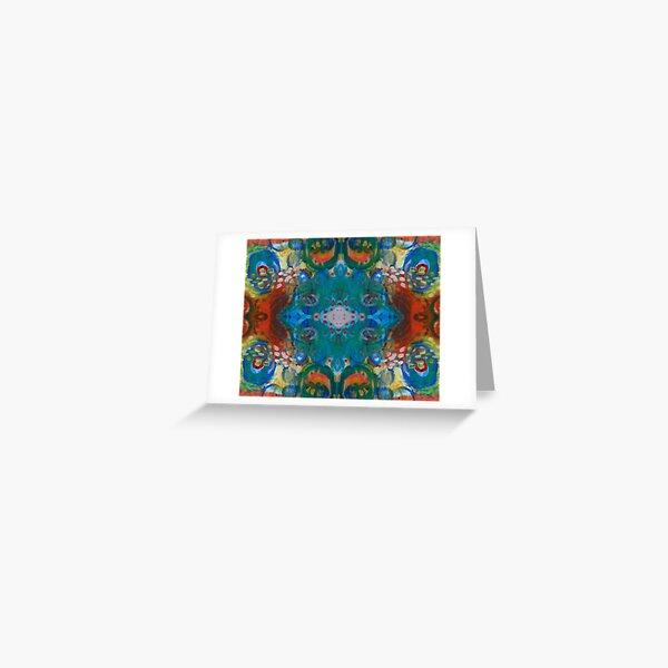 colourful swirly fun Greeting Card