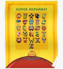 Super Alphabet back cover Poster