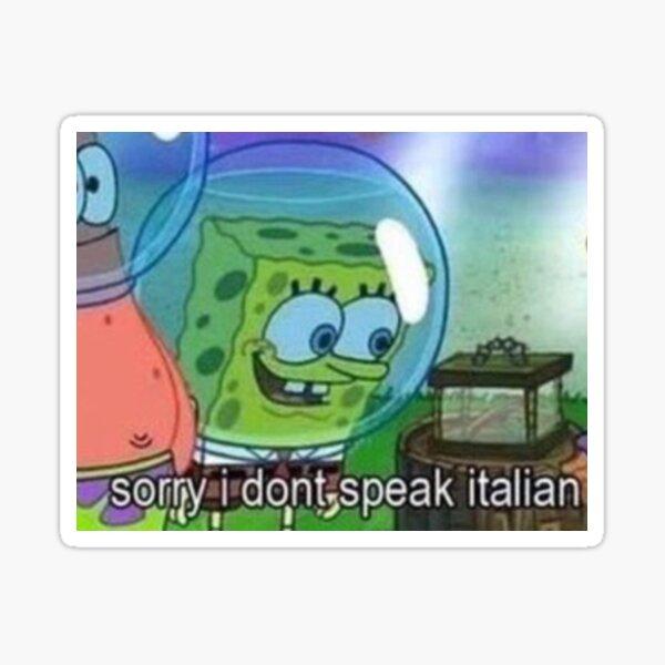 Sorry i don't speak Italian  Sticker