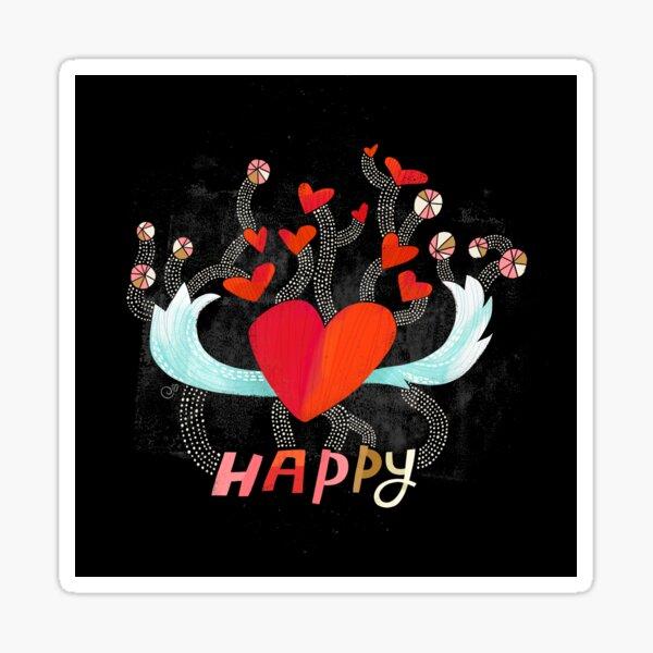 Happy Heart Sticker