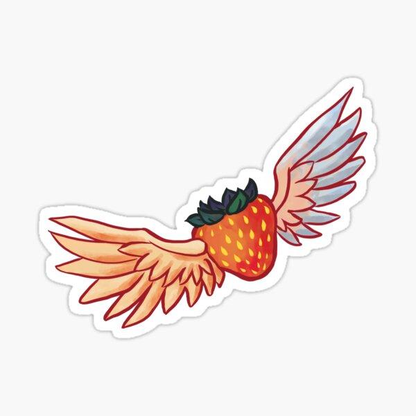 Flying Celeste Strawberry Sticker