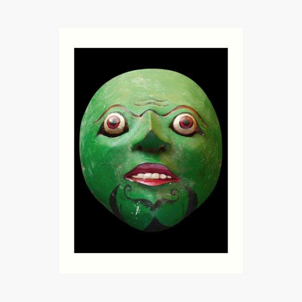 Green - Javanese Mask Art Print