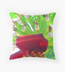Bananas - tropical art made by the nature - Platanos - arte tropical de la madre naturaleza Throw Pillow