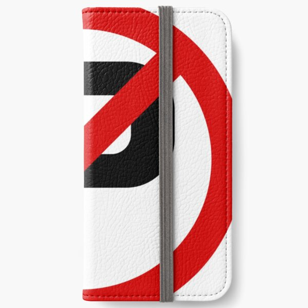 Road Signs - Restrictive Sign - No Parking iPhone Wallet