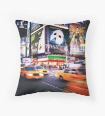 NYC: Taxi Taxi Throw Pillow