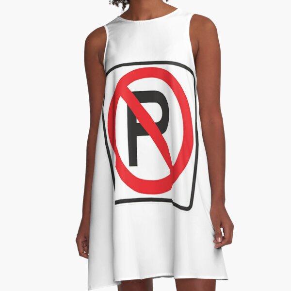 NO PARKING SYMBOL A-Line Dress