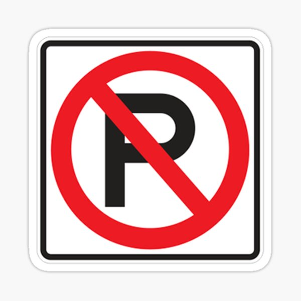 NO PARKING SYMBOL Sticker