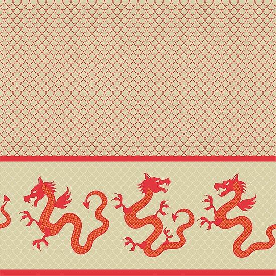 dragon pattern for 2012 new year by Nataliia-Ku