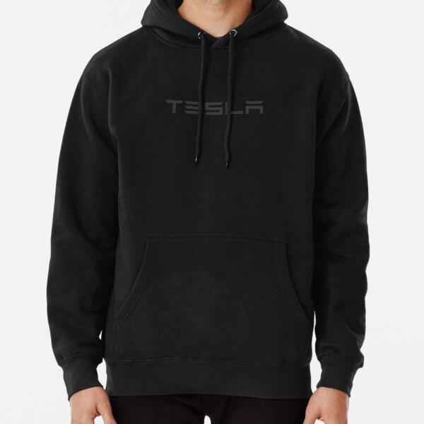 Logo Tesla gris foncé Sweat à capuche épais