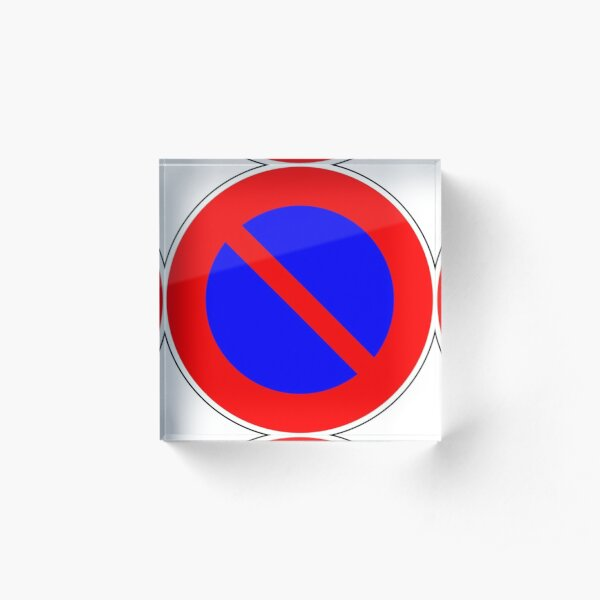 Road Signs - Restrictive Sign - No Parking Acrylic Block
