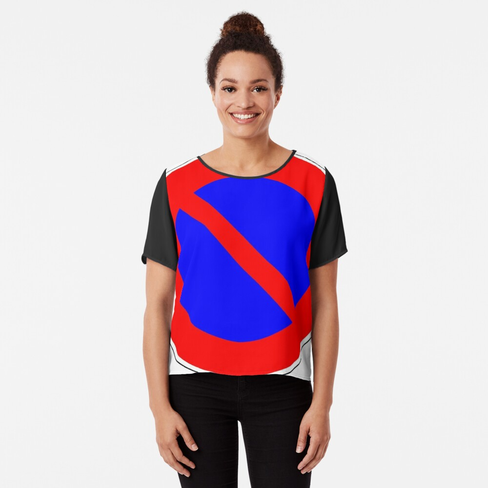 Road Signs - Restrictive Sign - No Parking Chiffon Top