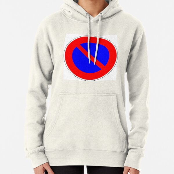 Road Signs - Restrictive Sign - No Parking Pullover Hoodie
