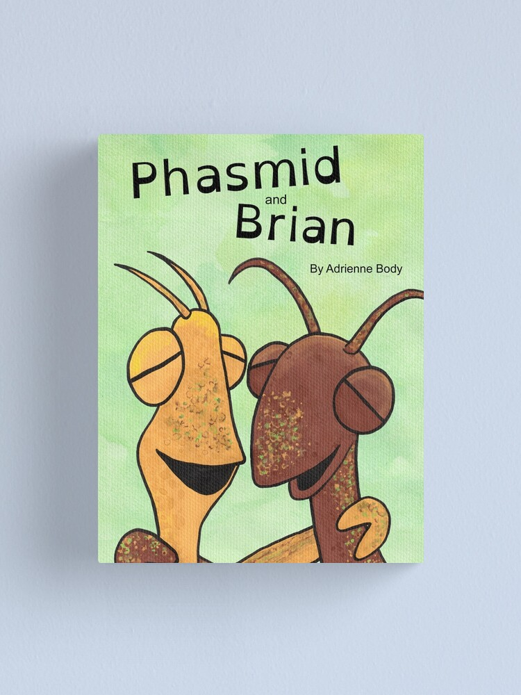 Alternate view of Cover Art - Phasmid and Brian Canvas Print