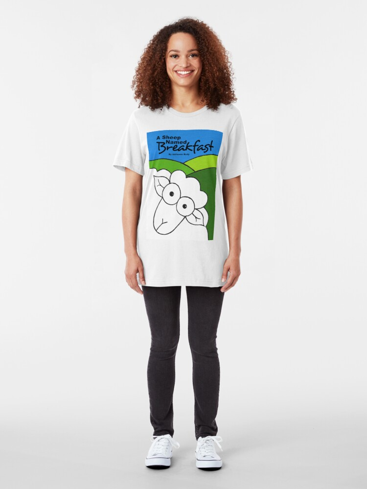 Alternate view of Cover Art - A Sheep Named Breakfast Slim Fit T-Shirt