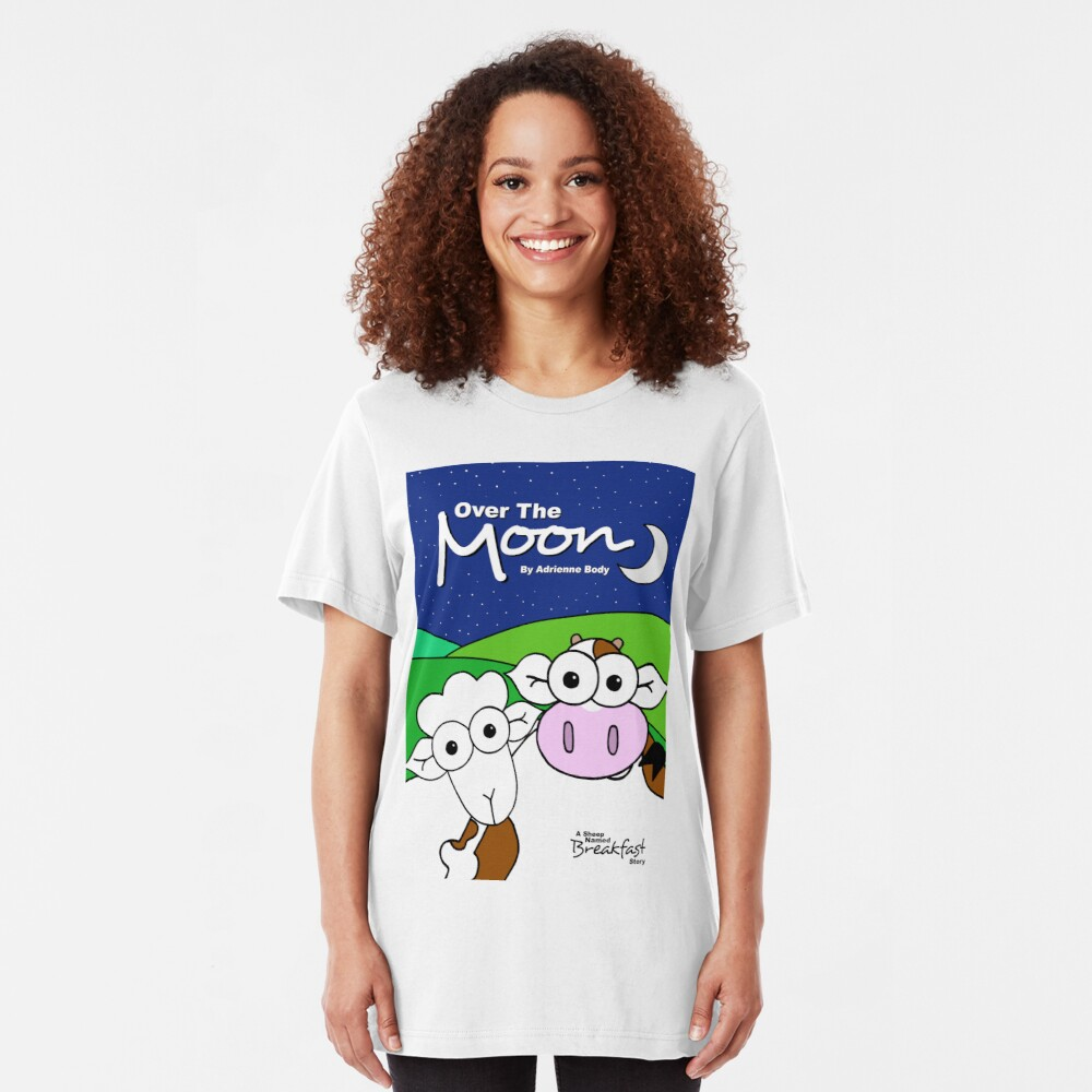 Cover Art - Over The Moon: A Sheep Named Breakfast Story Slim Fit T-Shirt