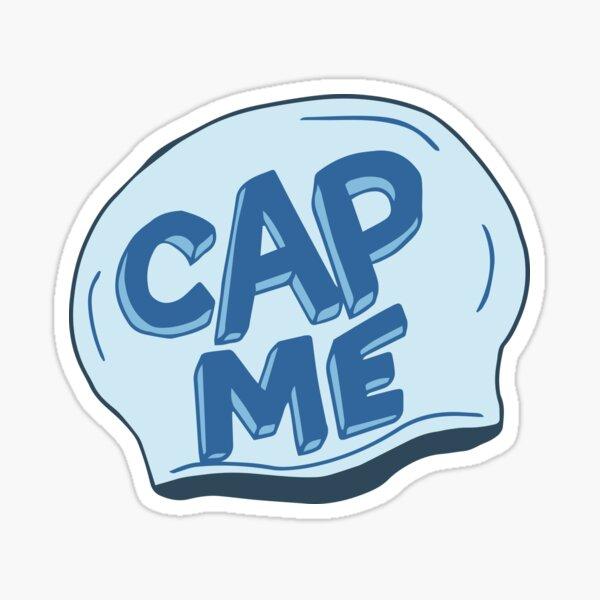 Cap Me Swimming Sticker