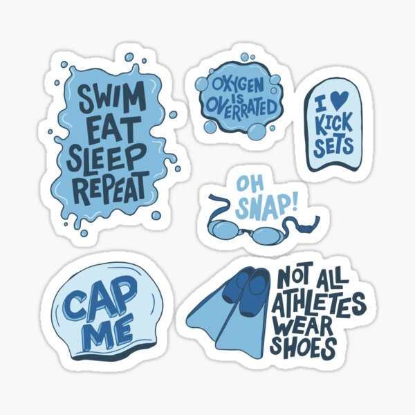 Swimmer Sticker Pack Sticker