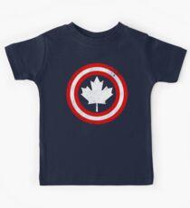 Captain Canada (White Leaf) Kids Tee
