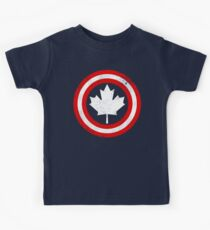 Captain Canada (White Leaf) Kids Tee