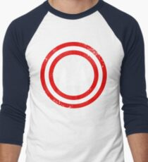 Captain Canada (White Leaf) Men's Baseball ¾ T-Shirt